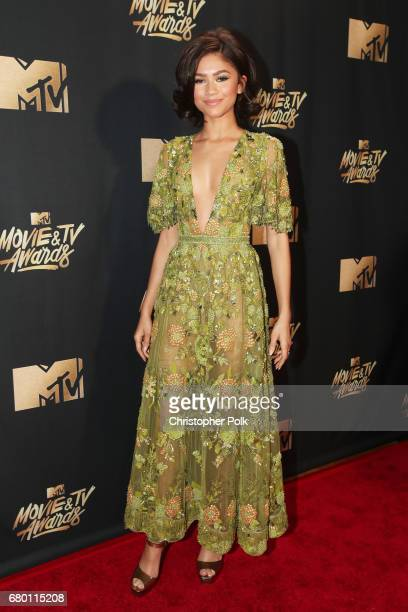Zendaya attends the 2017 MTV Movie And TV Awards at The Shrine Auditorium on May 7 2017 in Los Angeles California