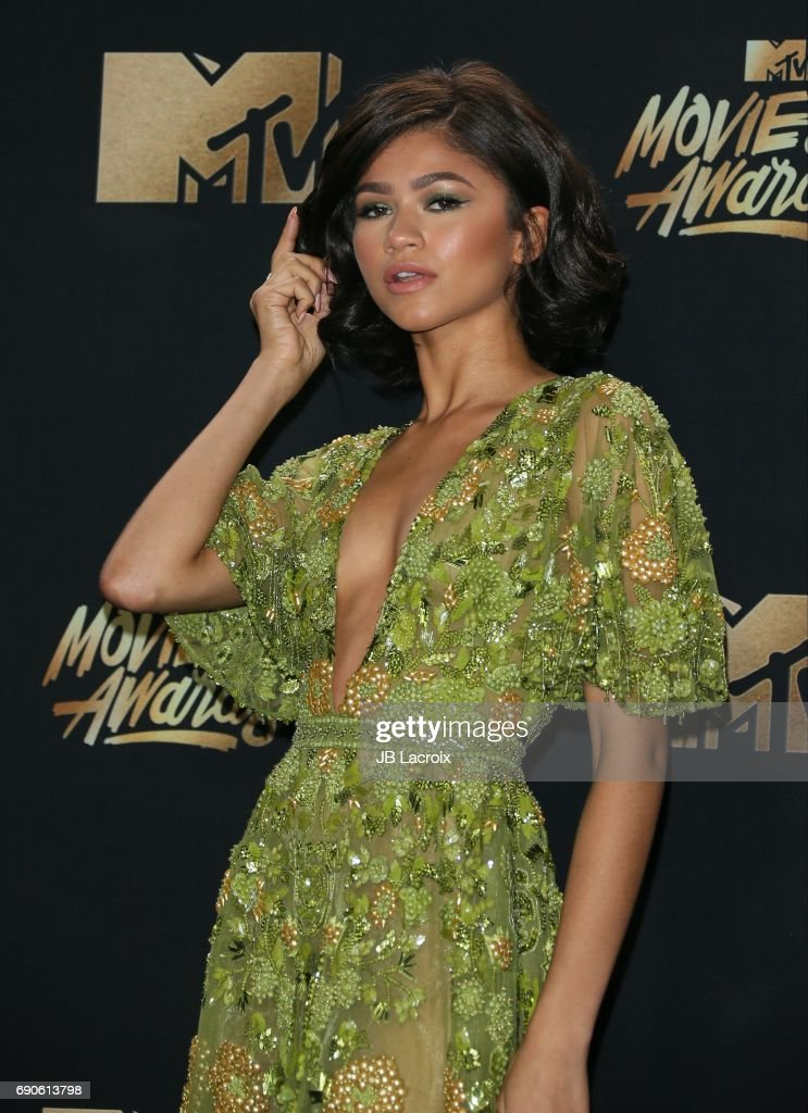 Zendaya attends the 2017 MTV Movie and TV Awards at The Shrine Auditorium on May 7, 2017 in Los Angeles, California.