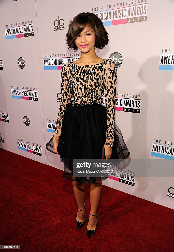 Zendaya attends the 40th American Music Awards held at Nokia Theatre L.A. Live on November 18, 2012 in Los Angeles, California.