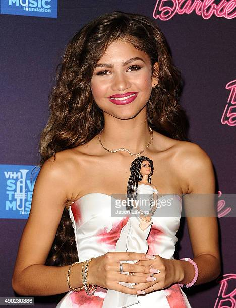 Zendaya attends the Barbie Rock 'N Royals concert experience at Hollywood Palladium on September 26 2015 in Los Angeles California