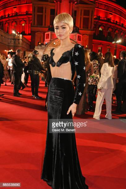 Zendaya attends The Fashion Awards 2017 in partnership with Swarovski at Royal Albert Hall on December 4 2017 in London England