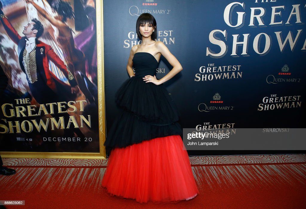Zendaya attends 'The Greatest Showman' World Premiere aboard the Queen Mary 2 at the Brooklyn Cruise Terminal on December 8, 2017 in the Brooklyn borough of New York City.