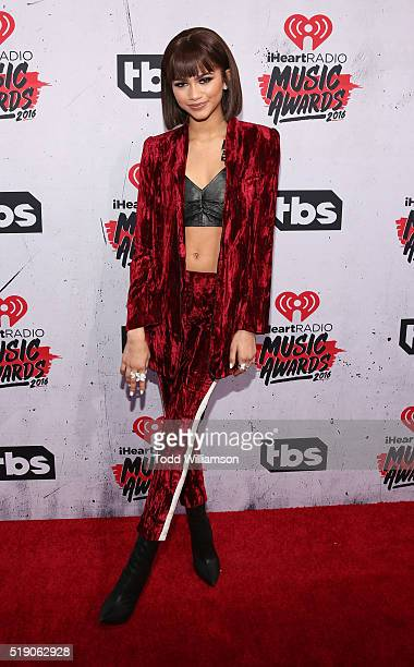 Zendaya attends the iHeartRadio Music Awards at the Forum on April 3 2016 in Inglewood California