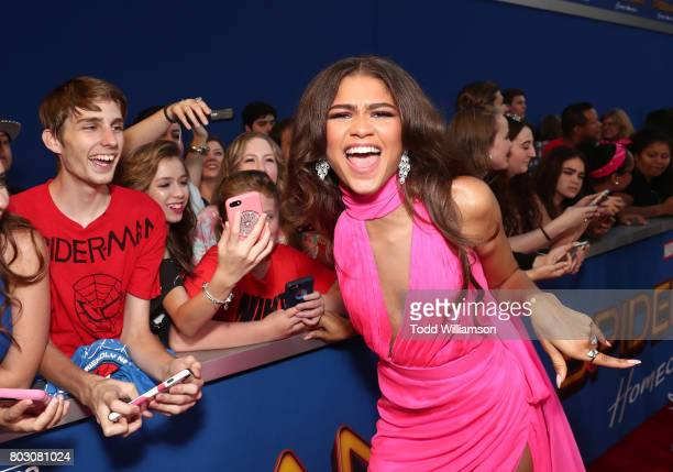 Zendaya attends the premiere of Columbia Pictures' 'SpiderMan Homecoming' at TCL Chinese Theatre on June 28 2017 in Hollywood California