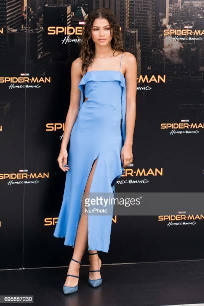 Zendaya attends the 'Spiderman Homecoming' movie photocall at Villamagna Hotel in Madrid on Jun 14 2017