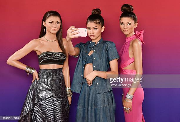 Zendaya attends the unveiling of two new wax figures of herself at Madame Tussauds San Francisco on November 21 2015 in San Francisco California
