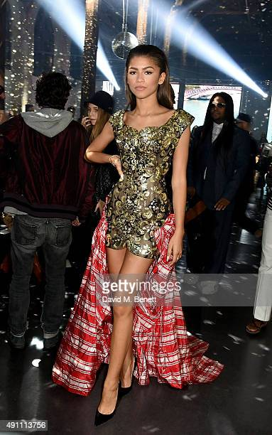 Zendaya attends the Vivienne Westwood show as part of the Paris Fashion Week Womenswear Spring/Summer 2016 on October 3 2015 in Paris France
