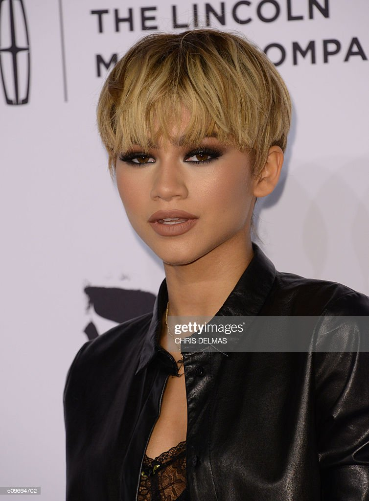 Zendaya Coleman arrives at the 7th Annual Black Women In Music Concert, an Essence Kicks Off Grammy Week-end event, in Hollywood, California, February 11, 2016 / AFP / CHRIS DELMAS
