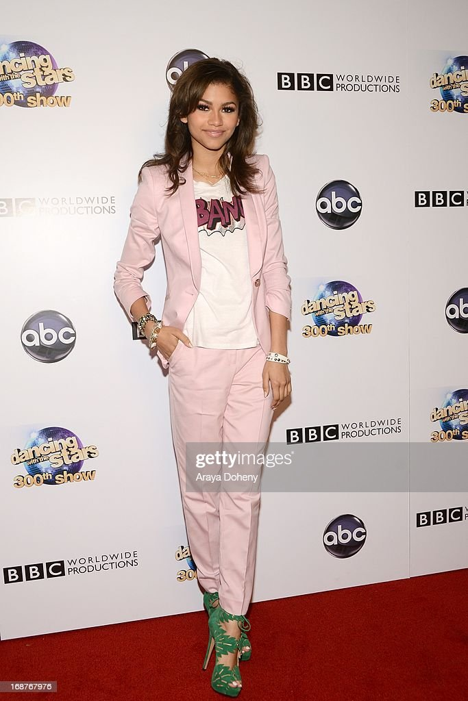 Zendaya Coleman arrives at the 'Dancing With The Stars' 300th episode red carpet event on May 14, 2013 in Los Angeles, California.