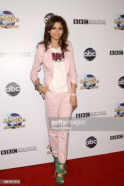Zendaya Coleman arrives at the 'Dancing With The Stars' 300th episode red carpet event on May 14 2013 in Los Angeles California