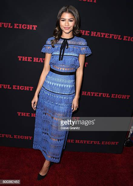 Zendaya Coleman arrives at the Premiere Of The Weinstein Company's 'The Hateful Eight' at ArcLight Cinemas Cinerama Dome on December 7 2015 in...