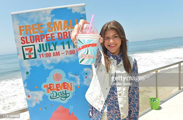 "Zendaya Coleman attends 7Eleven's 86th birthday at a party hosted by actress Nikki Reed star of the hit movies ""Twilight"" and ""Empire State"" on July..."