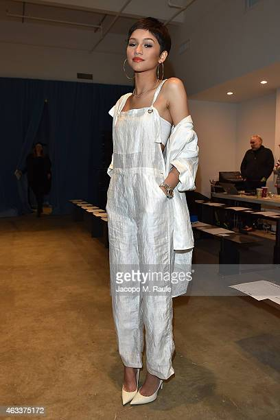 Zendaya Coleman attends Adam Selman Fashion Show at MercedesBenz Fashion Week Fall 2015 on February 13 2015 in New York City