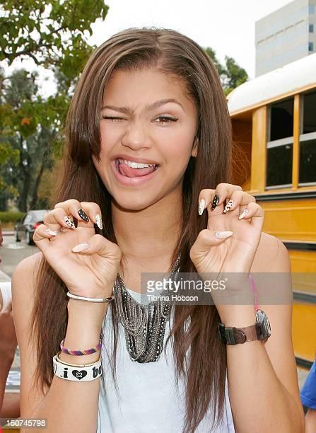 Zendaya Coleman attends Radio Disney's 'Back To School Drive' on August 25 2012 in San Pedro California