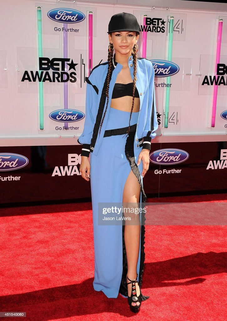 <a gi-track='captionPersonalityLinkClicked' href=/galleries/search?phrase=Zendaya+Coleman&family=editorial&specificpeople=7115520 ng-click='$event.stopPropagation()'>Zendaya Coleman</a> attends the 2014 BET Awards at Nokia Plaza L.A. LIVE on June 29, 2014 in Los Angeles, California.
