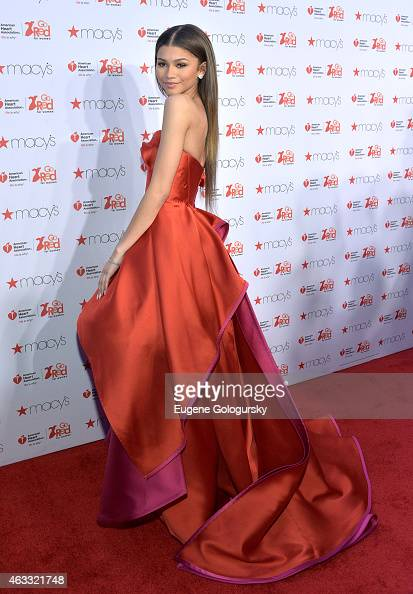 Zendaya Coleman attends the Go Red For Women Red Dress Collection during MercedesBenz Fashion Week Fall 2015 at The Theatre at Lincoln Center on...