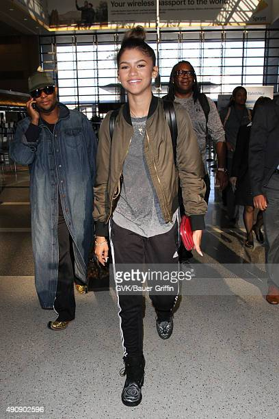 Zendaya is seen at LAX on October 01 2015 in Los Angeles California