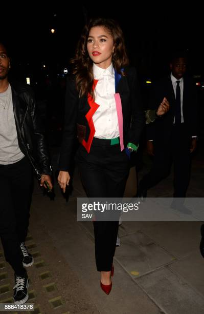 Zendaya leaves Claridges to go to Vogue House on December 5 2017 in London England