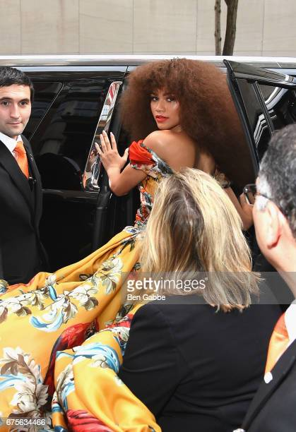 Zendaya leaves from The Mark Hotel for the 2017 'Rei Kawakubo/Comme des Garçons Art of the InBetween' Met Gala on May 1 2017 in New York City