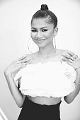 Zendaya poses for a portrait during the 2015 Teen Choice Awards FOX Portrait Studio at Galen Center on August 16 2015 in Los Angeles California