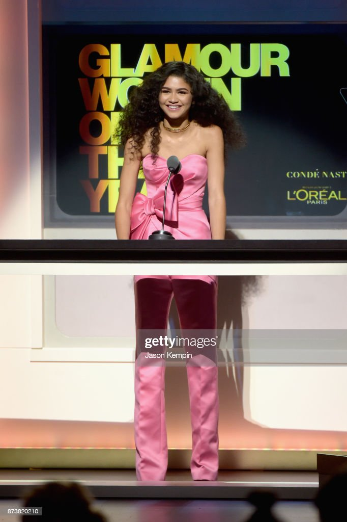 Zendaya speaks onstage at Glamour's 2017 Women of The Year Awards at Kings Theatre on November 13, 2017 in Brooklyn, New York.