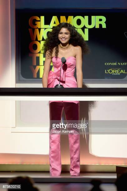 Zendaya speaks onstage at Glamour's 2017 Women of The Year Awards at Kings Theatre on November 13 2017 in Brooklyn New York