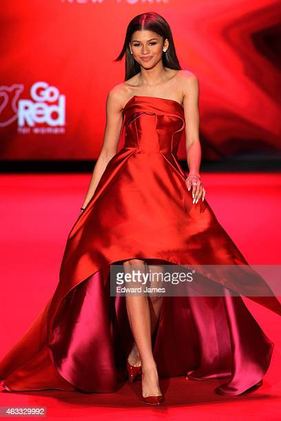 Zendaya walks the runway at The Theatre at Lincoln Center on February 12 2015 in New York City