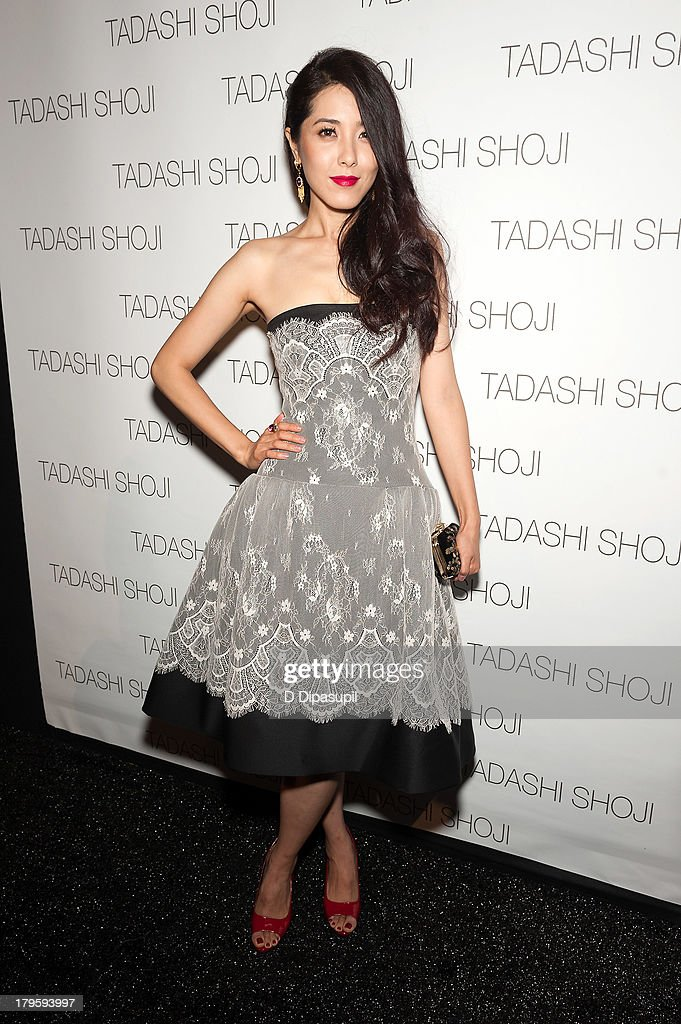 Zeng Li attends the Tadashi Shoji Spring 2014 fashion show at The Stage Lincoln Center on September 5, 2013 in New York City.