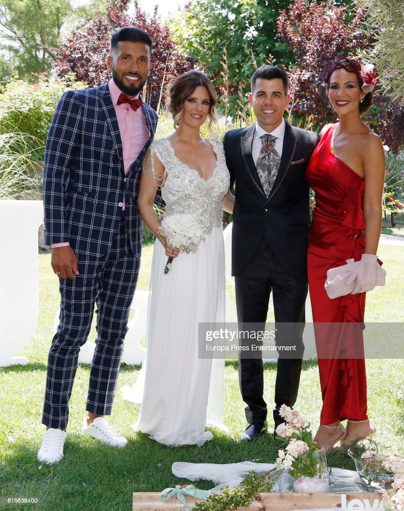 Ezequiel Garay and Tamara Gorro Attend A Wedding In Madrid s