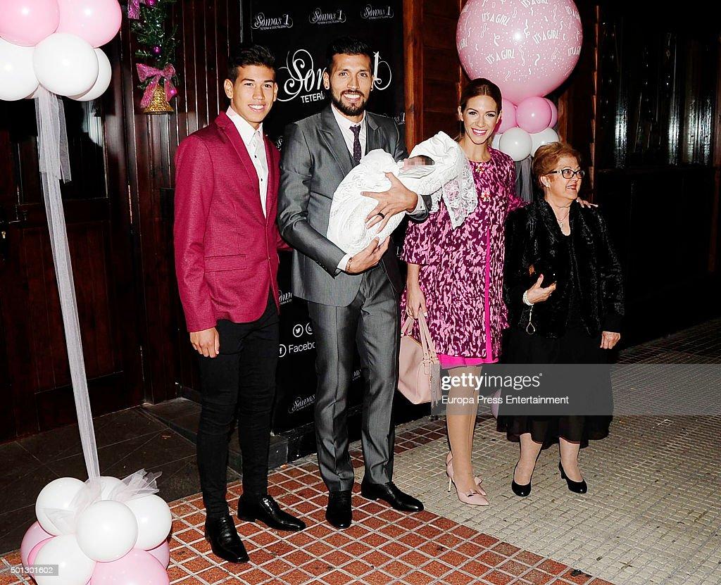 Ezequiel Garay and Tamara Gorro s Daughter Christening In Madrid