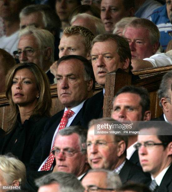 Zenit St Petersburg coach Dick Advocaat and David Murray in the stands