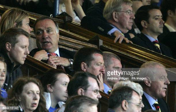 Zenit St Petersburg coach Dick Advocaat and Rangers manager Walter Smith in the stands