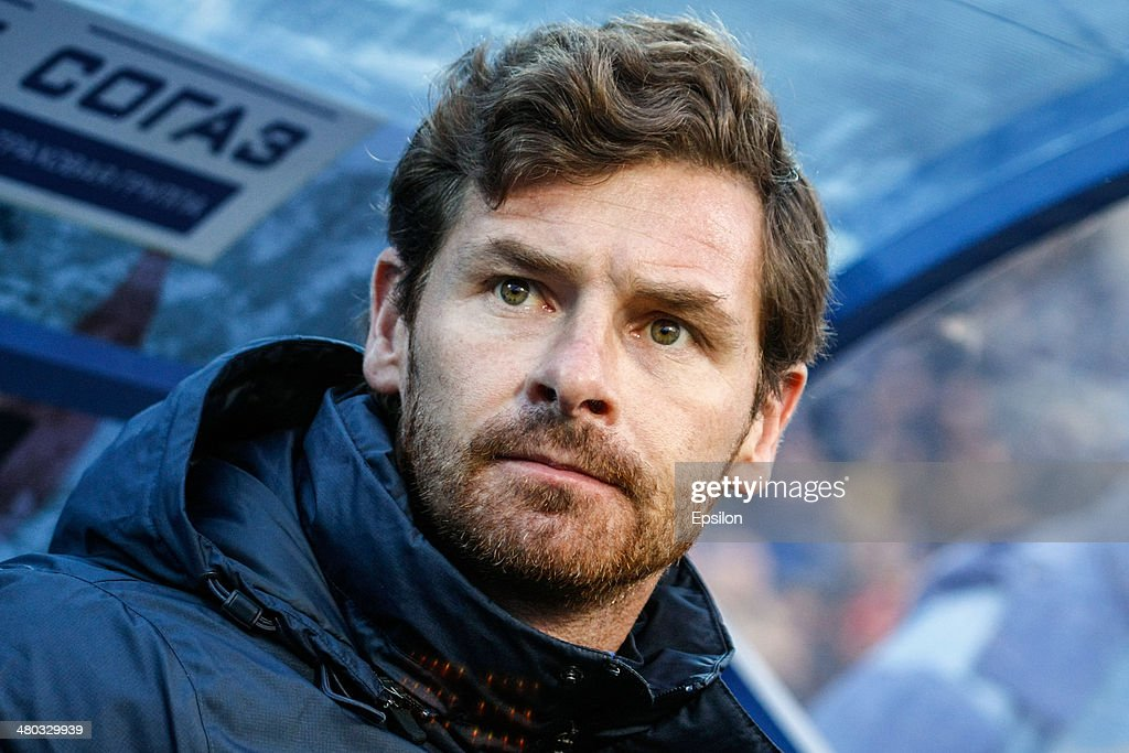 FC Zenit St. Petersburg head coach Andre Villas-Boas looks on during the Russian Football League Championship match between FC Zenit St. Petersburg and FC Krylia Sovetov Samara at the Petrovsky stadium on March 24, 2014 in St. Petersburg, Russia.