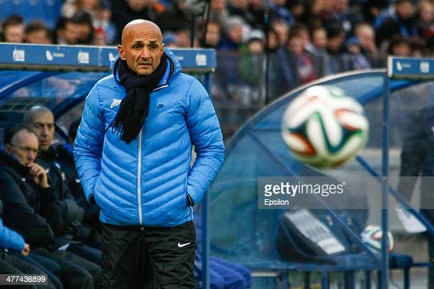 Zenit St Petersburg head coach Luciano Spalletti looks on during the Russian Football League Championship match between FC Zenit St Petersburg and FC...
