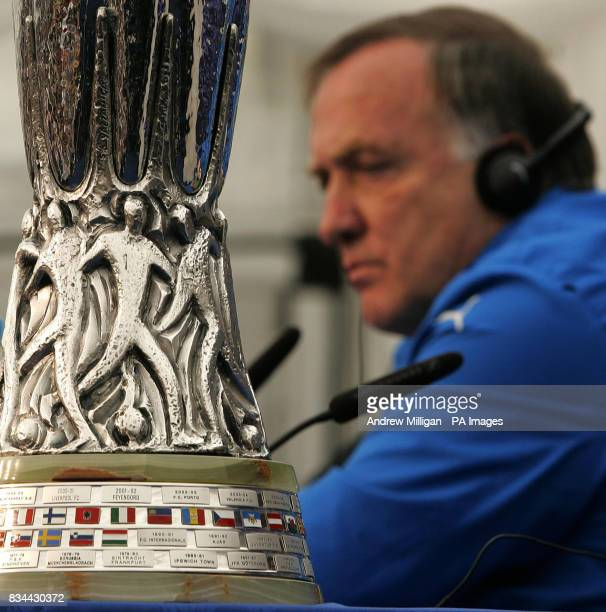 Zenit St Petersburg manager Dick Advocaat during a press conference at City Of Manchester Stadium Manchester