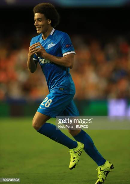 Zenit St Petersburg's Axel Witsel celebrates scoring his side's third goal of the game