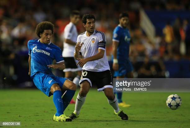 Zenit St Petersburg's Axel Witsel holds off challenge from Valencia's Dani Parejo