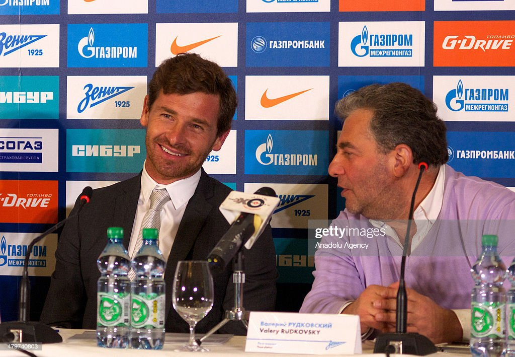 Zenit St Petersburg's new Portuguese head coach Andre VillasBoas speaks during a press conference in St Petersburg Russia on March 20 2014