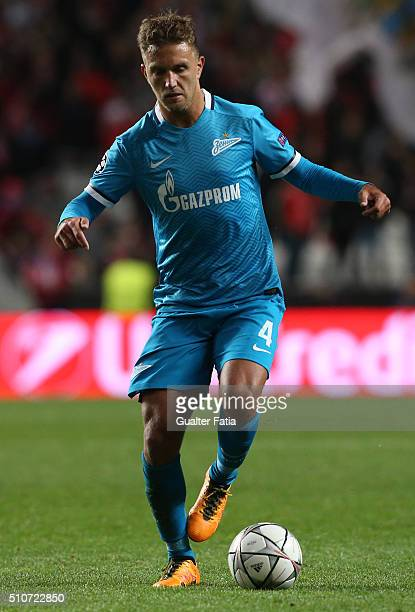 ZenitÕs defender from Italy Domenico Criscito in action during the UEFA Champions League Round of 16 First Leg match between SL Benfica and FC Zenit...