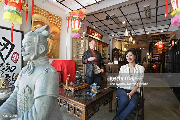 Zensation owner Raymond Leung and his daughter Christina in their Tea and Homewares store in Redfern 30 January 2007 SMH Picture by QUENTIN JONES