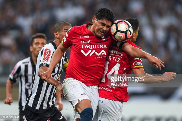 Zenteno of Jorge Wilstermann during a match between Atletico MG and Jorge Wilstermann as part of Copa Bridgestone Libertadores 2017 at Mineirao...
