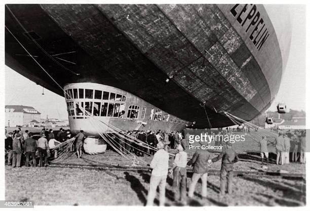 Zeppelin LZ 127 'Graf Zeppelin' after landing 1933 The 'Graf Zeppelin' was the most successful airship ever built Between its first flight in 1928...