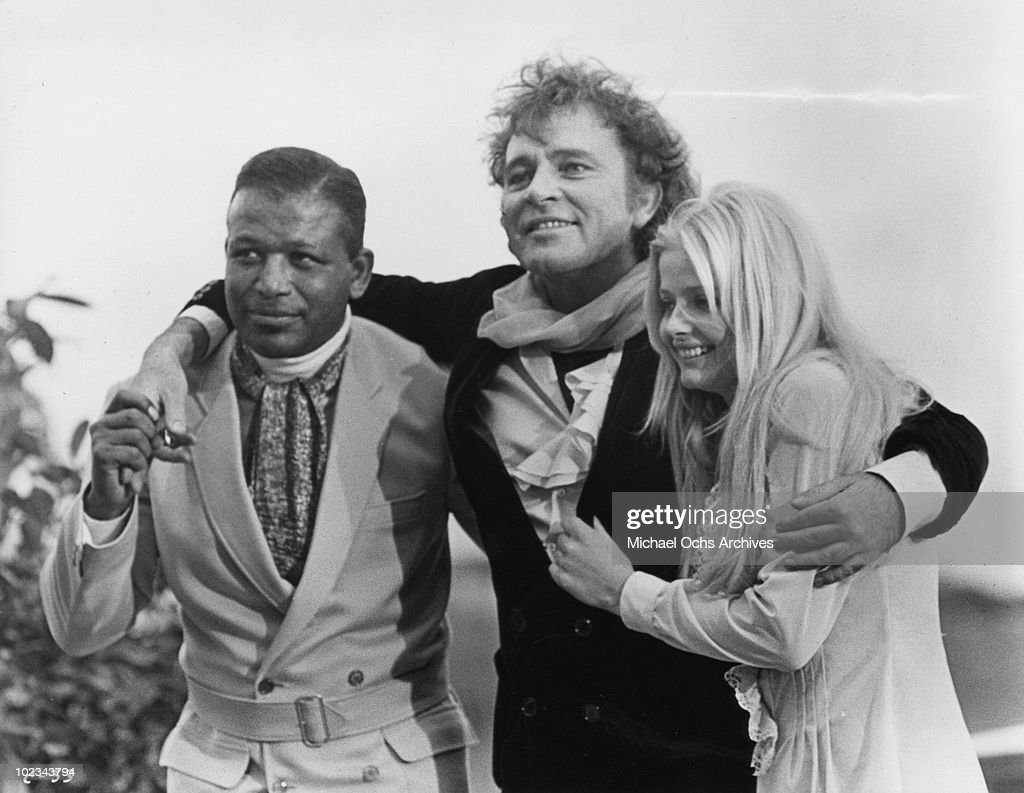 Zero a fellow actor and Candy Christian in a scene from the movie 'Good Grief It's Candy' which was released on December 17 1968