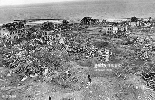 Zerstörungen auf Helgoland März 1952
