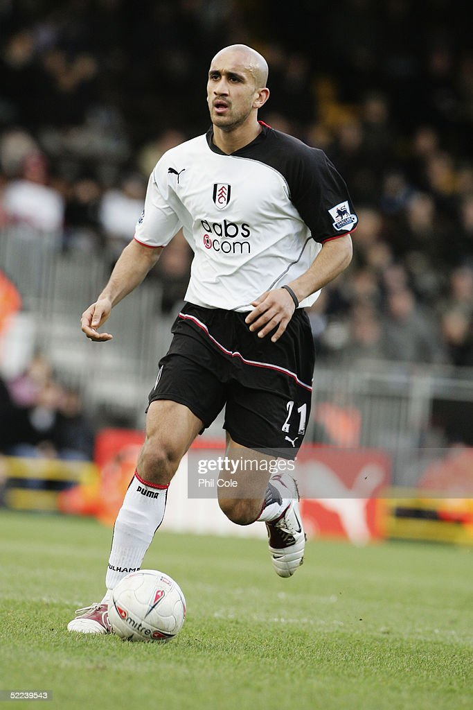 Zesh Rehman of Fulham in action during the FA Cup 4th round Replay match between Fulham and Derby County at Craven Cottage on February 12 2005 in...
