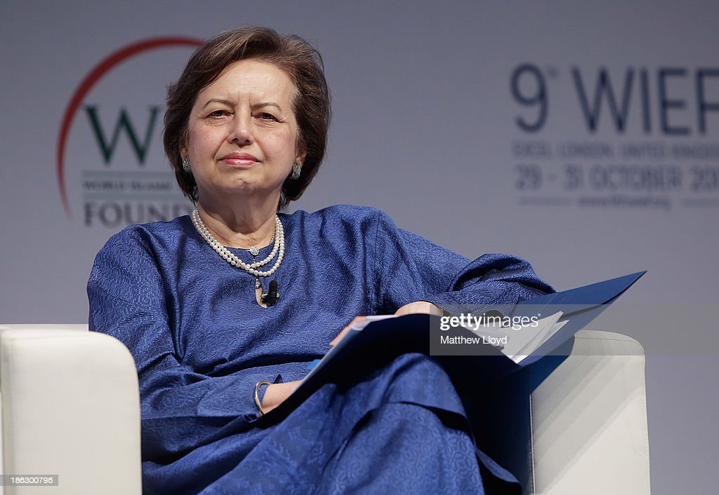 Zeti Akhtar Aziz Governor Bank Negara Malaysia presents at the World Islamic Economic Forum at ExCel on October 30 2013 in London England