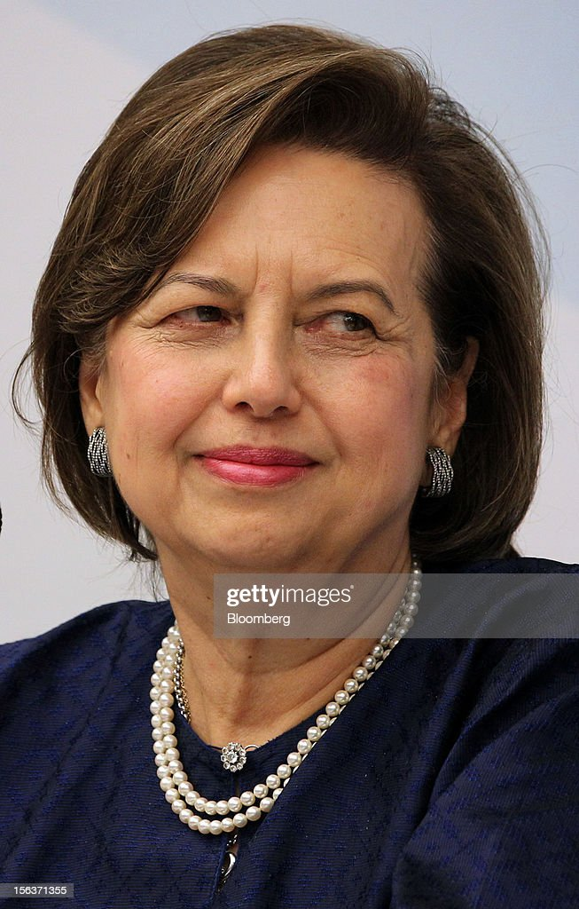 <a gi-track='captionPersonalityLinkClicked' href=/galleries/search?phrase=Zeti+Akhtar+Aziz&family=editorial&specificpeople=767464 ng-click='$event.stopPropagation()'>Zeti Akhtar Aziz</a>, governor of Bank Negara Malaysia, listens during a news conference in Kuala Lumpur, Malaysia, on Wednesday, Nov. 14, 2012. International Monetary Fund Managing Director Christine Lagarde today kicked off a three-country tour of Southeast Asia, which is thriving after emerging from turmoil more than a decade ago. Photographer: Goh Seng Chong/Bloomberg via Getty Images