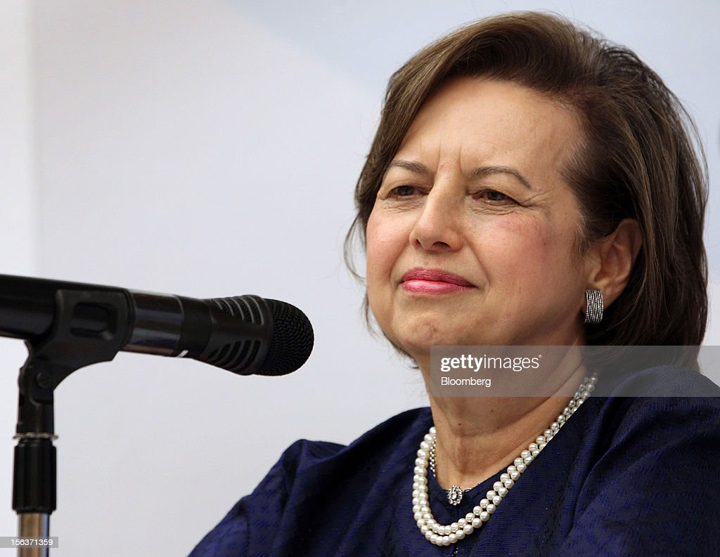 <a gi-track='captionPersonalityLinkClicked' href=/galleries/search?phrase=Zeti+Akhtar+Aziz&family=editorial&specificpeople=767464 ng-click='$event.stopPropagation()'>Zeti Akhtar Aziz</a>, governor of Bank Negara Malaysia, pauses during a news conference in Kuala Lumpur, Malaysia, on Wednesday, Nov. 14, 2012. International Monetary Fund Managing Director Christine Lagarde today kicked off a three-country tour of Southeast Asia, which is thriving after emerging from turmoil more than a decade ago. Photographer: Goh Seng Chong/Bloomberg via Getty Images