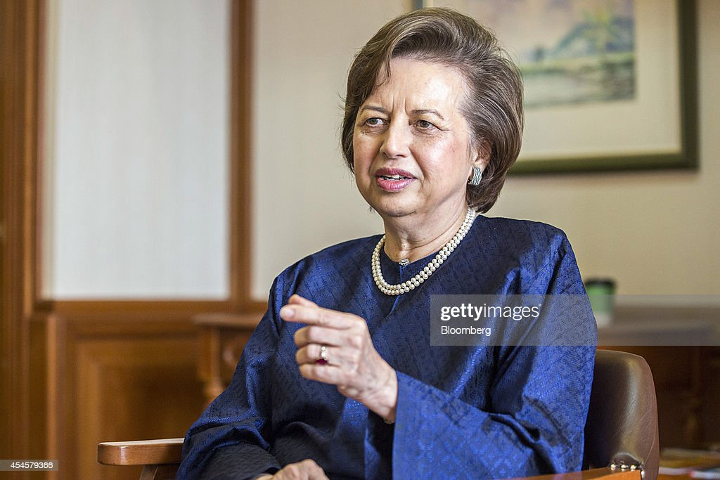 Zeti Akhtar Aziz governor of the Bank Negara Malaysia gestures as she speaks during an interview at the central bank headquarters in Kuala Lumpur...