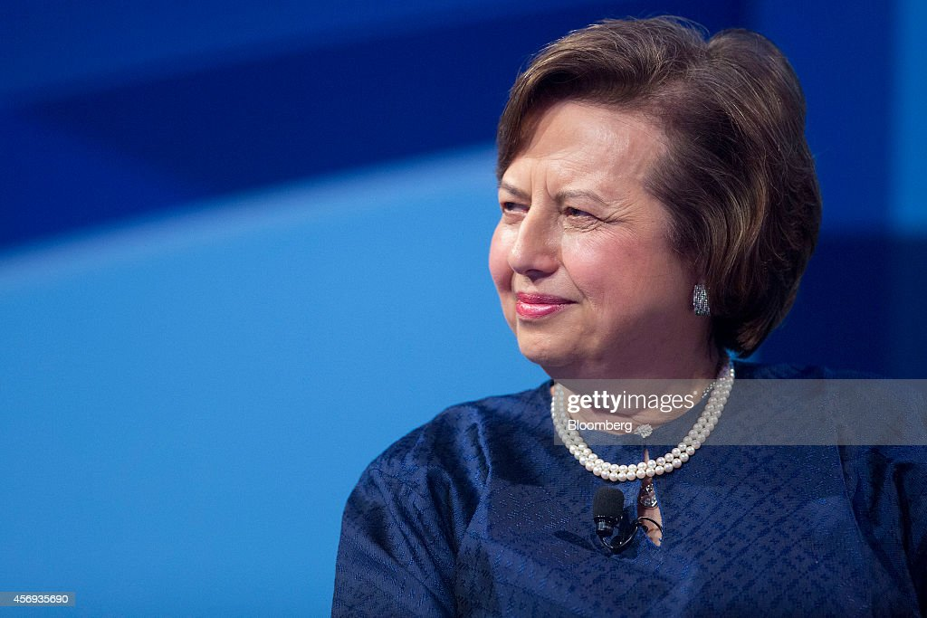 Zeti Akhtar Aziz governor of the Bank Negara Malaysia listens at a panel discussion during the International Monetary Fund and World Bank Group...